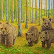 Bear Family Poster