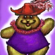 Bear In Red Hat Poster
