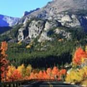 Bear Lake Road In Autumn Poster