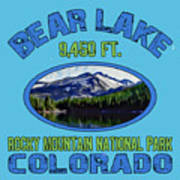 Bear Lake Rocky Mountain National Park Colorado Poster
