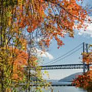 Bear Mountain Bridge Fall Color Poster