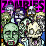 Bearded Zombies Group Photo Poster