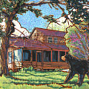 Bears At Barton Cabin Poster