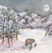 Bears In Winter Poster