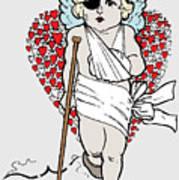 Beaten Up Cupid Art - Funny Love Broken Heart Art Poster
