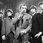 Beatles And Ed Sullivan Poster