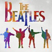 Beatles Watercolor Poster Poster