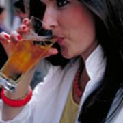 Beautiful Beer Drinker Poster