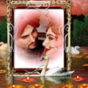 Beautiful Bridal Couple In Love Poster