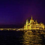 Beautiful Budapest Parliament Poster