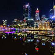 Beautiful Cityscape At Perth's Elizabeth Quay  Poster