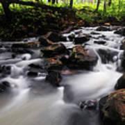 Beautiful Creek In Western Ghats Region Of Karnataka State India Poster