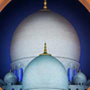 Beautiful Detail At Mosque, Abu Dhabi, United Arab Emirates Poster