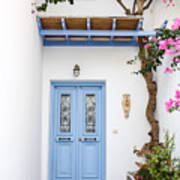 beautiful door Paros Poster