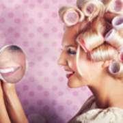 Beautiful Model With Fresh Makeup And Hairstyle Poster by Jorgo Photography - Wall Art Gallery