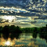 Beautiful Scene Before Sunset Poster