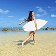 Beautiful Surfer Girl Poster