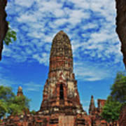 Beautiful Wat Phra Ram Temple In Ayutthaya, Thailand  Poster
