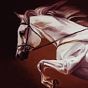 Beautiful White Running Horse 9iu Poster