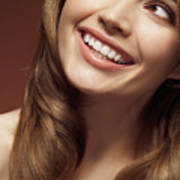 Beautiful Young Smiling Woman Poster