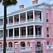 Beauutiful Pink Colonial Style Mansion Poster