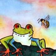 Bee Hoppy Poster