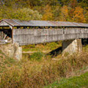 Beech Fork Or Mooresville Covered Bridge Poster