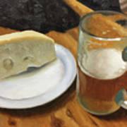 Beer And Jarlsberg Poster by Timothy Jones