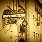 Beer Cellar In Salzburg Poster