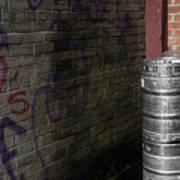 Beer Keggs And Graffiti Poster