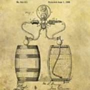 Beer Pump Patent Poster