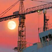 Behind The Crane A Hunter's Moon Rises II Poster