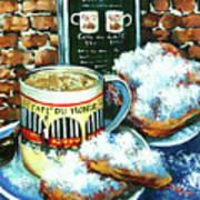 Beignets And Cafe Au Lait Poster