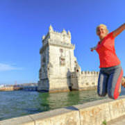 Belem Tower Jumping Poster