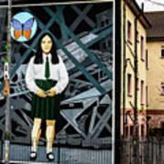 Belfast Mural - Butterfly - Ireland Poster