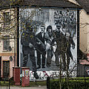 Belfast Mural - Civil Rights Association - Ireland Poster