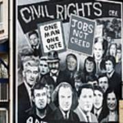 Belfast Mural - Civil Rights - Ireland Poster