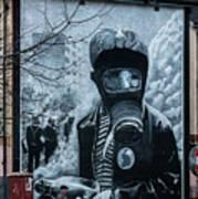 Belfast Mural - Face Mask - Ireland Poster