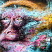 Belfast Mural - Monkey Face - Ireland Poster