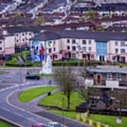 Belfast Mural - Derry Neighborhood - Ireland Poster