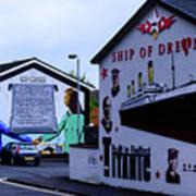 Belfast Mural - No More Poster