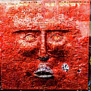 Belfast Wall - Red Face - Ireland Poster