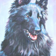 Belgian Sheepdog Portrait Poster