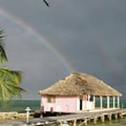 Belize Double Rainbow Poster