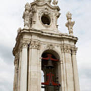 Bell Tower With Red   Poster