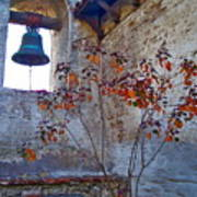 Bell Wall And Eastern Wall Of Serra Chapel In Sacred Garden Mission San Juan Capistrano California Poster