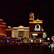 Bellagio And Caesar's Palace In Las Vegas-nevada Poster