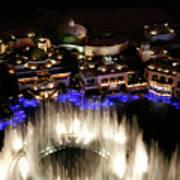 Bellagio Hotel Fountain Poster