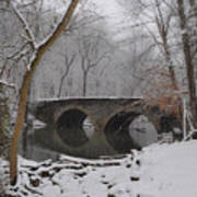 Bells Mill Bridge On A Snowy Day Poster