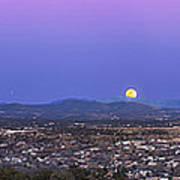 Belt Of Venus And Full Moon Rising Poster